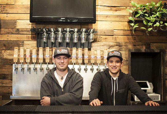 Matt and Asa of the Brew Gentlemen Beer Company.
