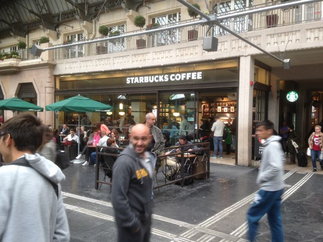 Gare de l'Est. The larger Starbucks.