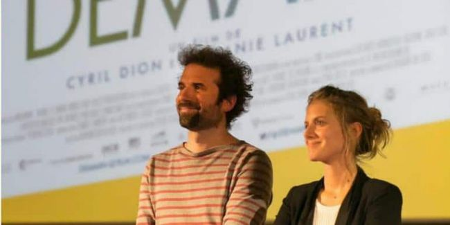 Melanie and Cyril at a French screening of 'Demain'.