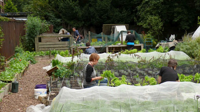 Spring gardening in one of Growing Communities' 'Patchwork Farm sites.