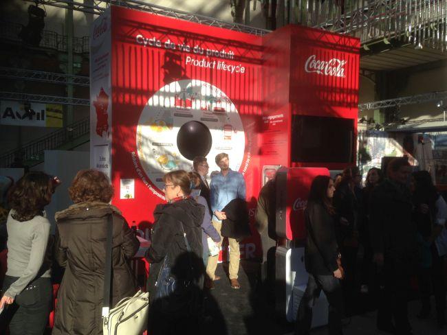 The Coca Cola stand.