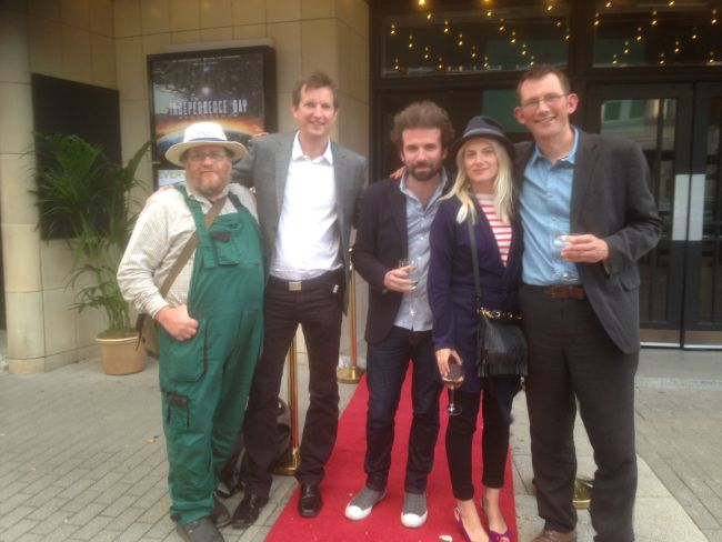 (L-R) Nick Green, Mark Burton, Cyril Dion, Melanie Laurent, Rob Hopkins.