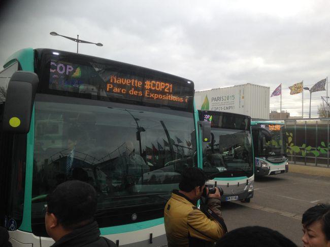 Buses to La Bourget.