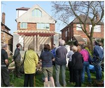 Common ground: AECB and Transition members working together made a success of eco-homes open days in and around Nottingham.