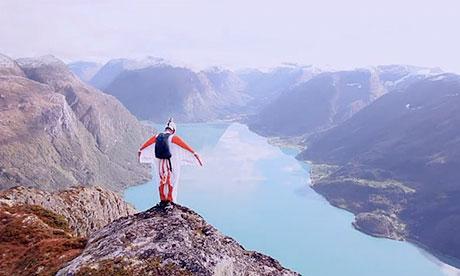 Wingsuit flying, Norway