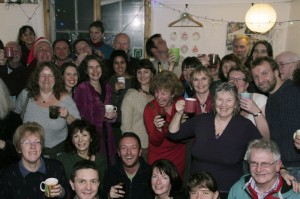 The TTT Christmas party just after the news was announced on Friday night