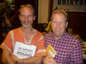 Duncan Law (left) with Pete North, author of the forthcoming 'Local Money' guide being produced by Transition Network and Green Books