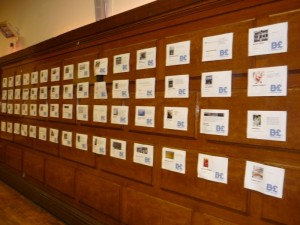 Each participating business was featured on the wall....