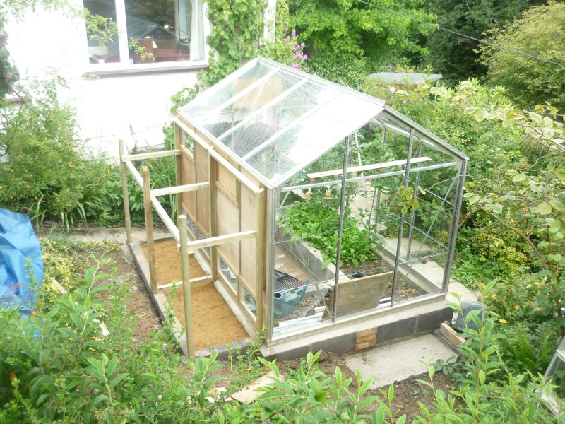 A chicken greenhouse update notes from the cutting edge for Greenhouse plans designs