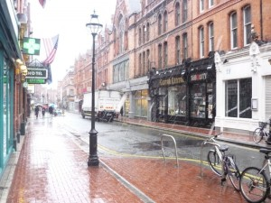 A snowy Dublin