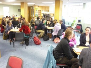 The World Cafe groups at the Greenhouse
