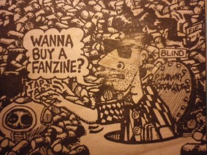 Image detail from the front cover of 'The Underground' fanzine, No. 3. 1985.