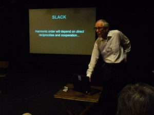 David Fleming giving his talk on