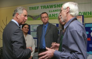 The Prince meeting some of the Transition Llandeilo team