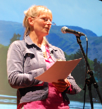 Aha!  A picture of Mary-Jayne giving her talk!  Thanks to Mike G....