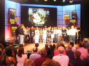 The TED staff take to the stage for some well-earned applause